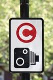 Signe de charge d'encombrement photographie stock