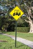 Signe de chariot de golf Photographie stock
