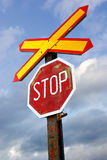 Signe de chemin de fer Photographie stock libre de droits