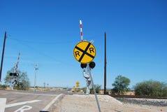 Signe de chemin de fer Photos libres de droits