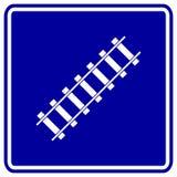 Signe de chemin de fer de transport de train de vecteur Image libre de droits