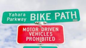 Signe de chemin de vélo photographie stock