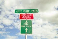 Signe de chemin de vélo image stock