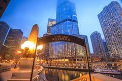 Signe de Chicago Riverwalk image libre de droits