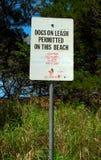 Signe de chien Image libre de droits