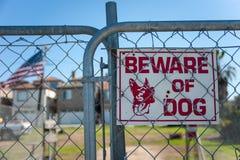 Signe de chien de garde Photographie stock
