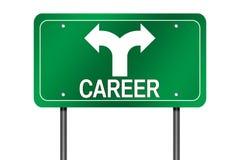 Signe de choix de carrière images libres de droits