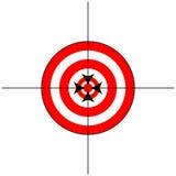 Signe de cible avec des réticules photo stock