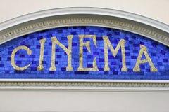 Signe de cinéma Photo stock