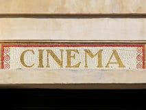 Signe de cinéma Photographie stock