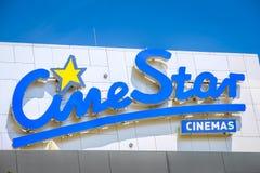 Signe de Cinestar images libres de droits
