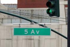 Signe de Cinquième Avenue Image libre de droits