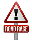 signe de circulation routière avec une fureur de route Photographie stock