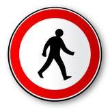 Signe de circulation routière de marche d'homme d'isolement illustration de vecteur