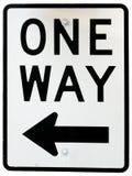 Signe de circulation unidirectionnelle Photo stock