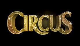 Signe de cirque de scintillement Images stock