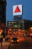 Signe de Citgo la nuit, une borne limite de Boston Photographie stock libre de droits