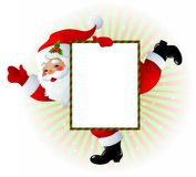 signe de Claus Santa Photos stock