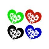 Signe de coeur avec des pattes illustration de vecteur