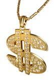 signe de collier du dollar Image libre de droits