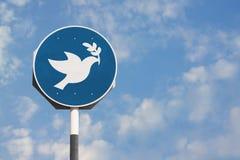 Signe de colombe de paix Photographie stock libre de droits