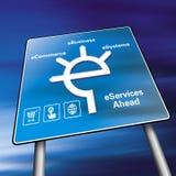 Signe de commerce électronique Image libre de droits