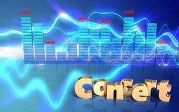 signe de concert de signe du concert 3d illustration de vecteur