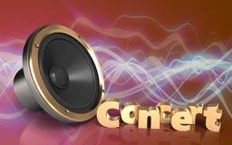 signe de concert du haut-parleur 3d bruyant Photographie stock
