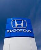 Signe de concessionnaire de Honda Autombile Image stock