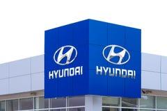 Signe de concessionnaire de Hyundai Autombile Image libre de droits