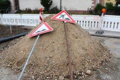 Signe de construction photographie stock libre de droits