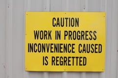 Signe de construction Image libre de droits