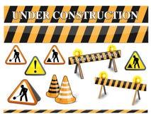 signe de construction dessous Image stock