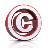 Signe de Copyright Images libres de droits