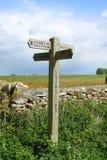 Signe de Cotswold, le Cotswolds, Angleterre Image libre de droits