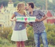 Signe de couples et d'amour Photographie stock