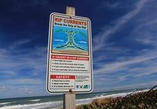 Signe de courant de déchirure de Cap Canaveral photo libre de droits