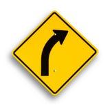 Signe de courbe d'isolement sur le blanc. Images stock