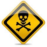 Signe de crâne de danger illustration libre de droits