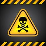 Signe de crâne de danger illustration de vecteur