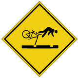 Signe de crash de vélo (format d'AI procurable) Photos stock