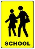Signe de croisement d'école Image libre de droits