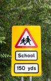 Signe de croisement d'école Photographie stock