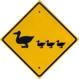 Signe de croisement de canard Photographie stock libre de droits