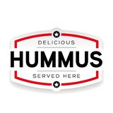 Signe de cru de label de houmous illustration libre de droits