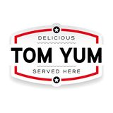 Signe de cru de label de Tom Yum illustration de vecteur