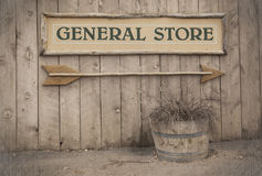 Signe de cru, épicerie générale Images libres de droits