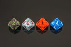 signe de 2014 cubes en couleur Image stock