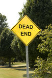 Signe de cul-de-sac Image libre de droits