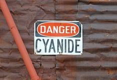 Signe de cyanure de danger Image stock